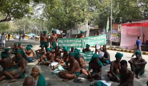 Farmers sitting on hunger strike at Jantar Mantar. (Photo: ANN/Nirmesh Singh)