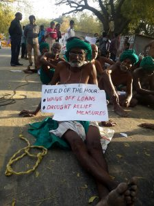 Tamil Farmer displaying urgent demands.  Photo: ANN/Nirmesh Singh