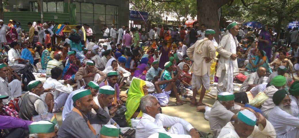 Kisan  Mahapanchayat at Jantar Mantar to protest the killings of farmers in Madhya Pradesh in police firing.  (Photo: Shakti Sharan Singh/ANN)