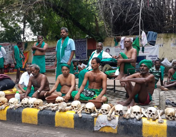 Tamil Nadu farmers sitting at Jantar Mantar waiting for govt to act on their demands