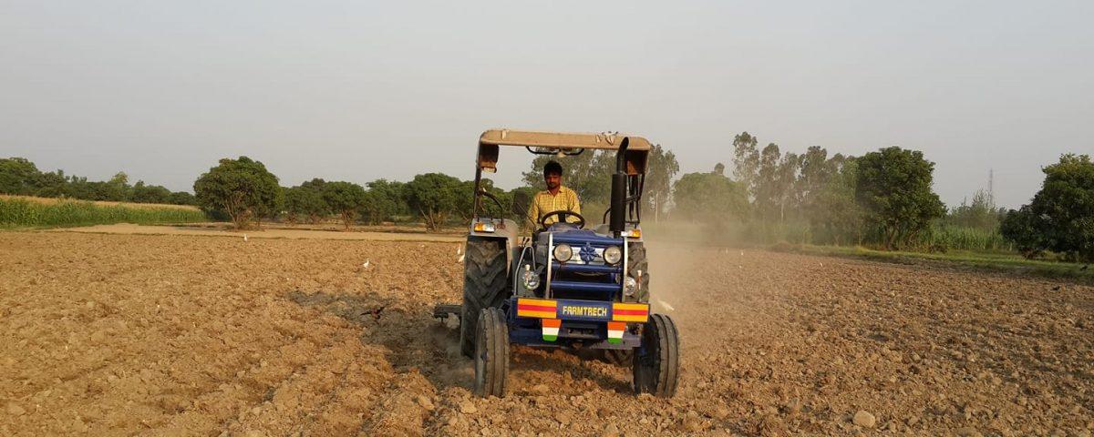 Farmer ploughing his field using tractor.  (Photo: Nirmesh Singh/ANN)