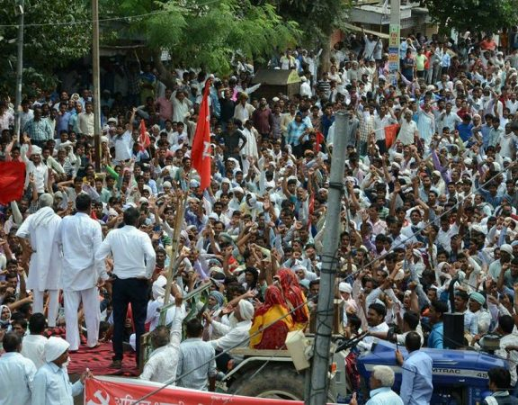 Farmers protest in Sikar