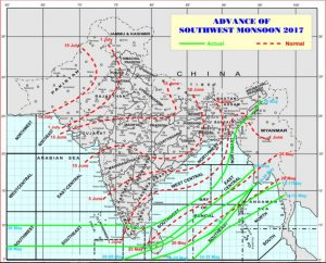 IMD's monsoon map for 2017 (Source: IMD)